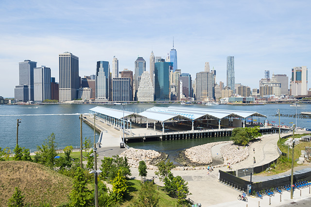 Panorama depuis Brooklyn Heights Promenade, New York