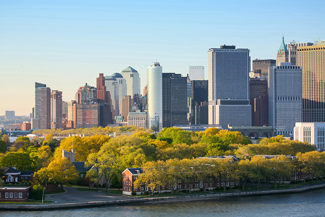 Manhattan et Governors Island